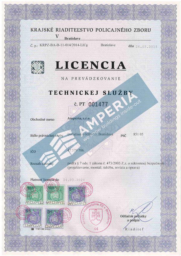 Licencia na prevádzkovanie technickej služby